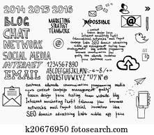 Clip Art of Project management mind map scheme / diagram