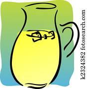 clip art of drwaing pitcher