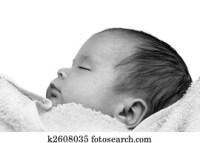 Stock Fotograf - neugeborenes baby, in, badewanne k2604789 ...
