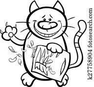 Clipart of cat claws cartoon illustration k24992745
