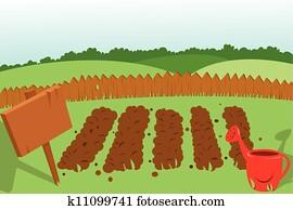 Vegetable Garden Clip Art Our Top 1000+ Vegetable Garden Vectors Fotosearch