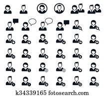 Human Resources employee hiring people Clip Art