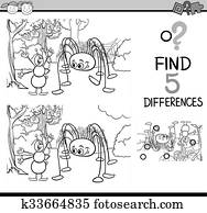 Find two identical insect pictures color book Clipart