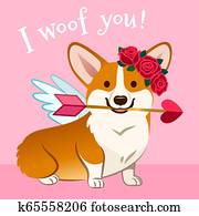 Download Greeting card with text Meow Day. Portrait of oriental ...