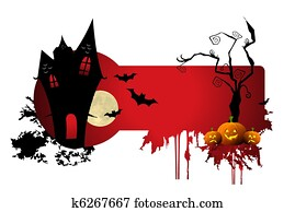 clip art of haunted scary house