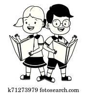1960S Teenage High School Couple Boy & Girl Students