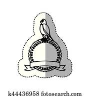 Clipart of , bird, border, eagle, fancy, frame, patriotic