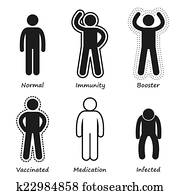 Common bacteria infecting human Clipart k6231874