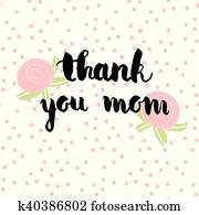 Download Greeting watercolor card. Mother's day. Thank you mom ...