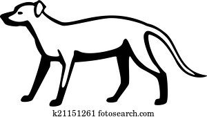Clip Art of , animal, breeds, canine, dog, labrador
