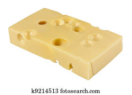 Stock Illustration of A wedge of Swiss cheese drawing in
