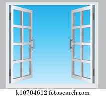 open window illustration casement clipart vector windows clip illustrations sky depositphotos ergonomics fotosearch vipdesignusa sketch clipground dreamstime
