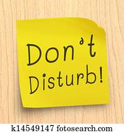 Do Not Disturb Note Stock Photo | k8218618 | Fotosearch