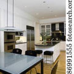 Build Kitchen Island Aid Dishwasher Parts 图片银行 厨房 吃 Area 前景 结霜的玻璃 桌子顶端 带 黑色 Kitchens 在中 吃区域