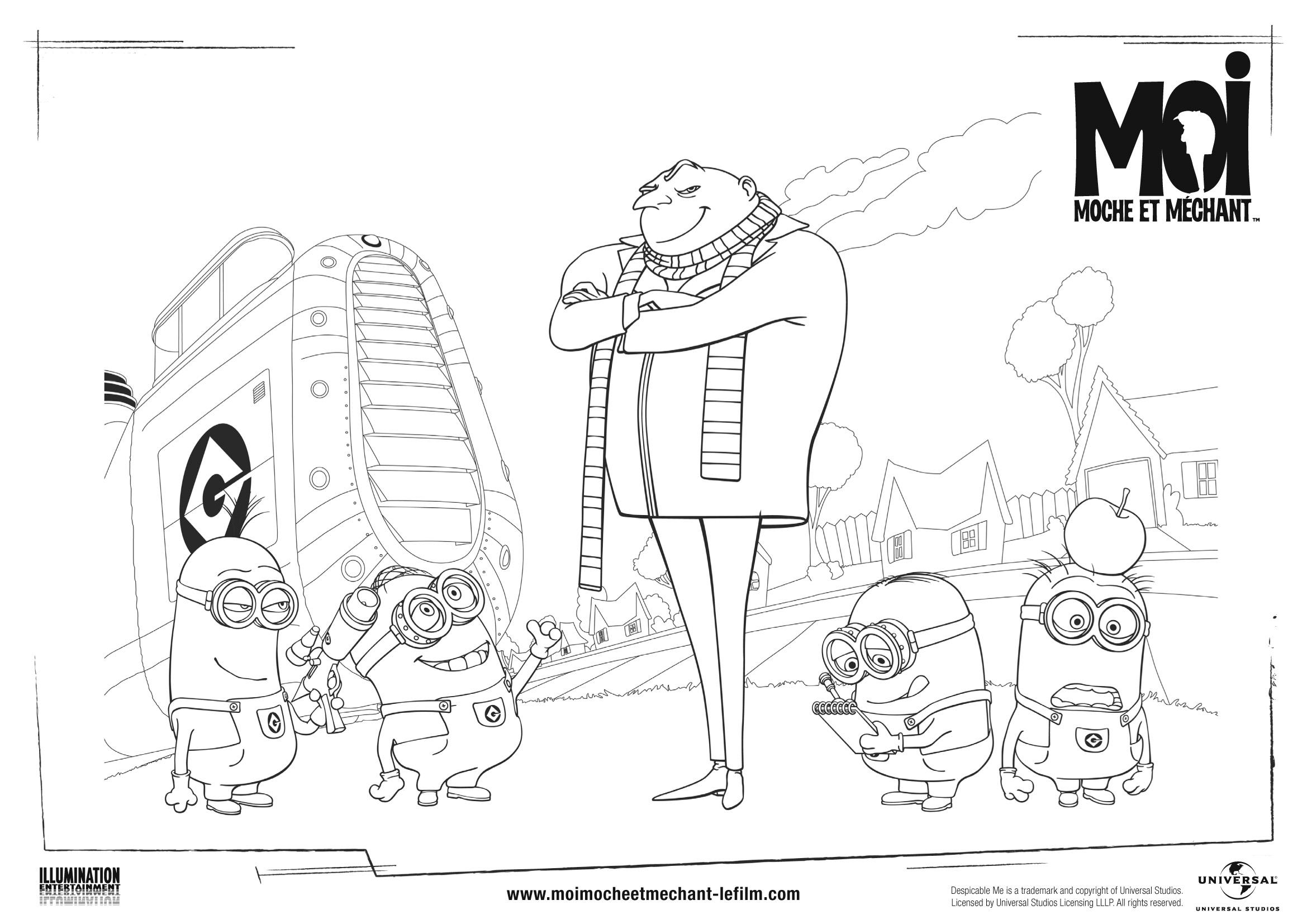 Le mechant Gru et les minions