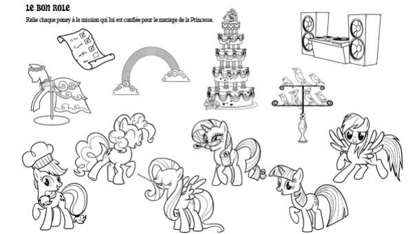 coloriage my little pony le mariage de princesse cadance et
