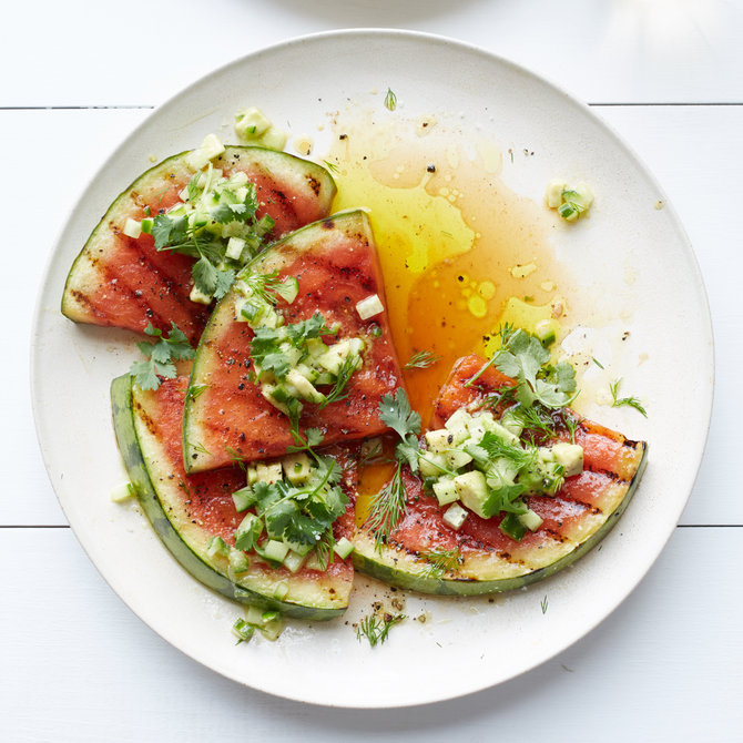 Food & Wine: Grilled Watermelon with Avocado, Cucumber and Jalapeno Salsa