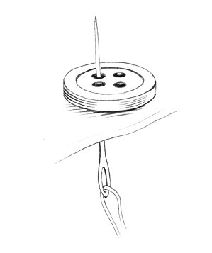 Image result for sewing a button on a shirt