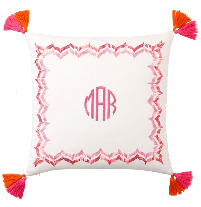 dorm chair covers etsy target threshold personalized graduation gifts real simple embroidered border monogram pillow