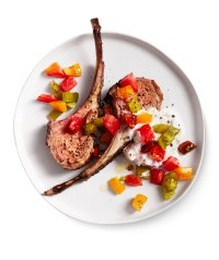 Rosemary Lamb With Tomato-Yogurt Sauce | Real Simple