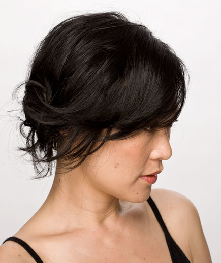 simple side knot sexy short