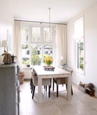 Bright on White | 32 Elegant Ideas for Dining Rooms - Real ...