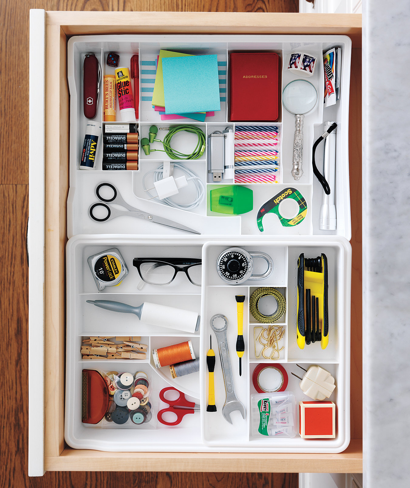 Junk Drawer Organized
