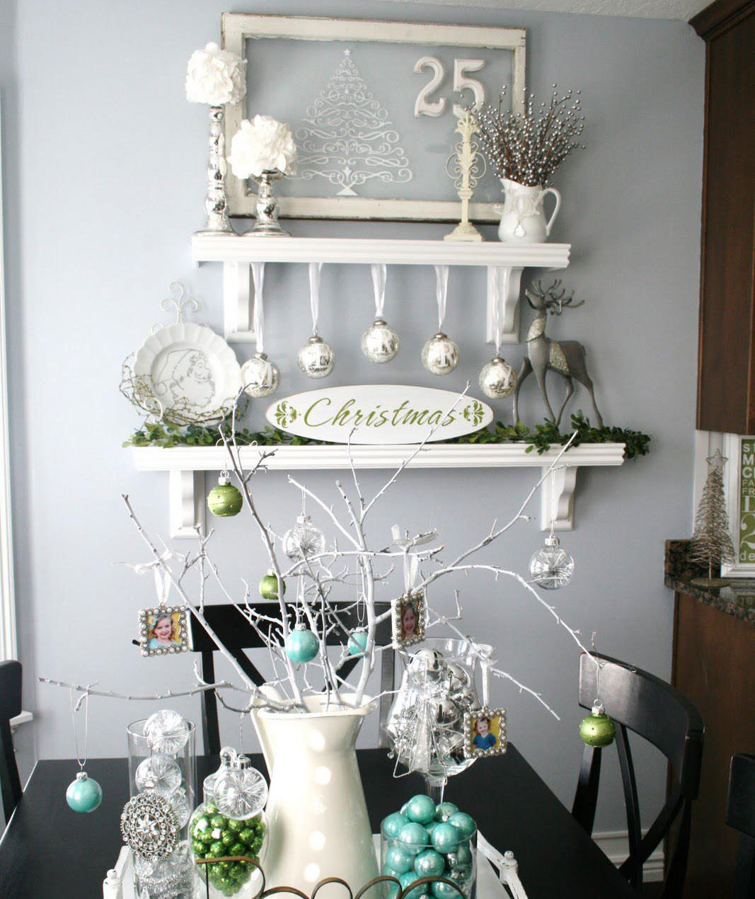 Tiered Shelves How To Decorate For Christmas Without A