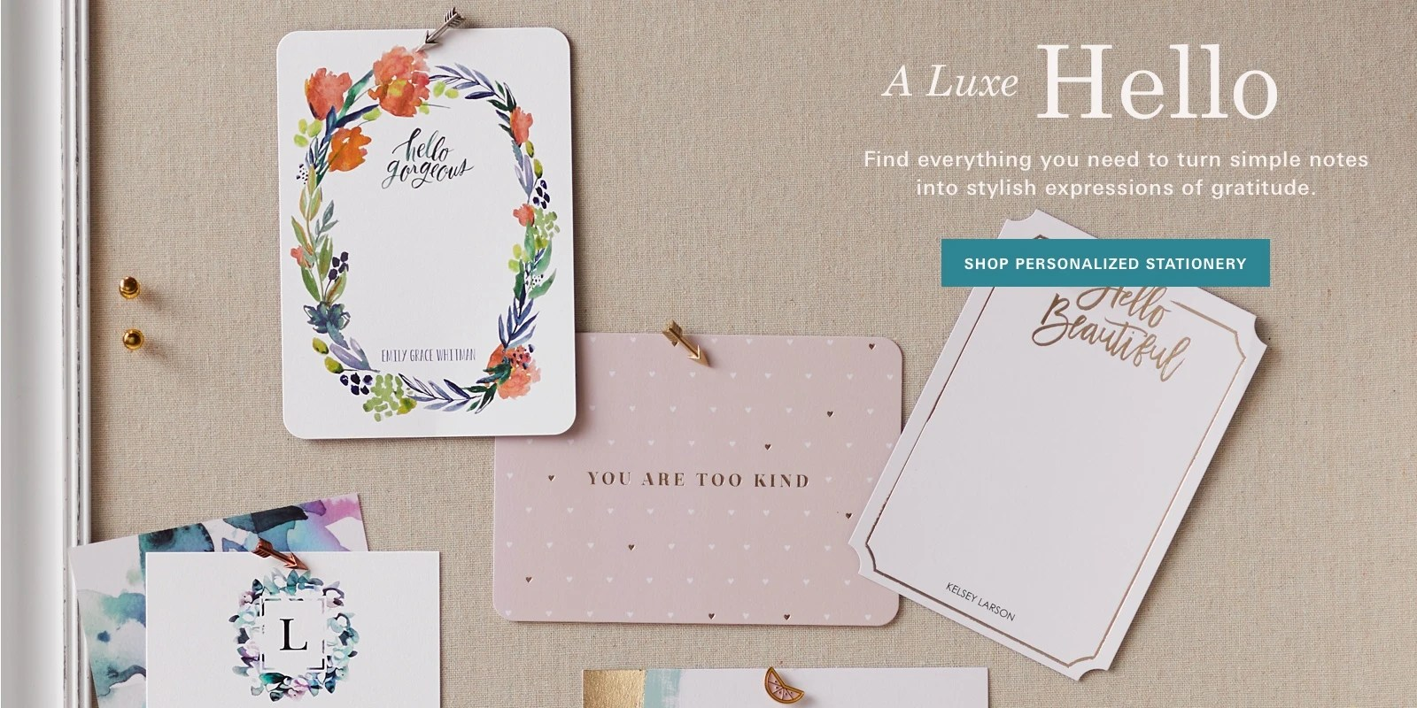 personalized stationery tiny prints