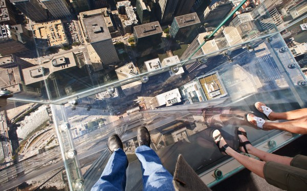 Chicago Willis Tower Skydeck Looking Down