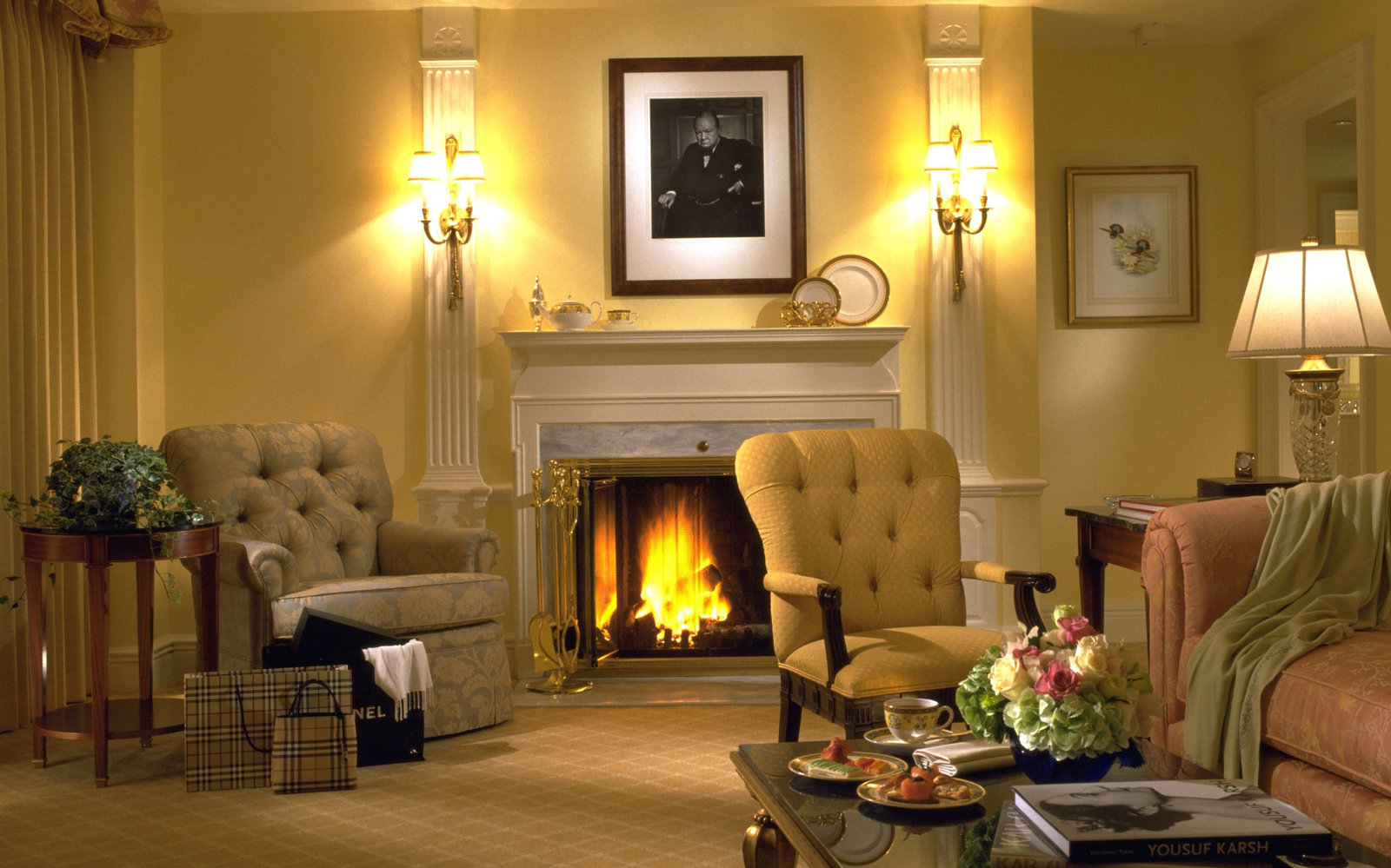 Luxury Hotel Fireplace Experiences  Travel  Leisure