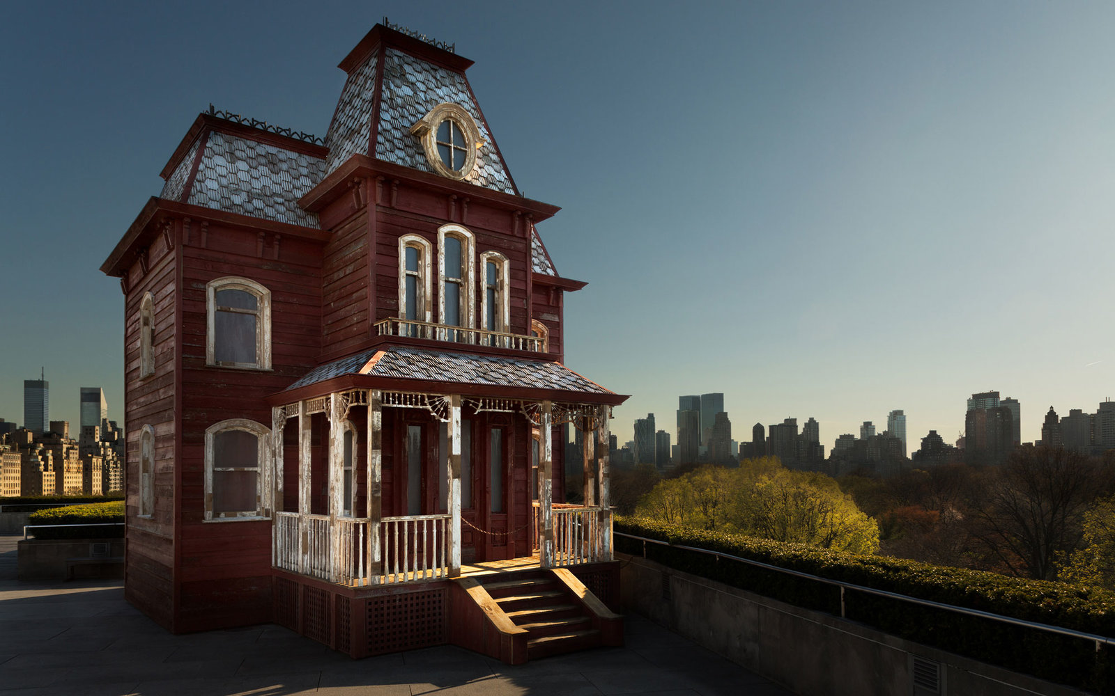 Replica Of 'psycho' House Opened Museum Rooftop
