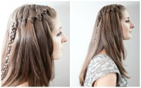 Waterfall Braid Tutorial for Travelers Without a Flatiron ...