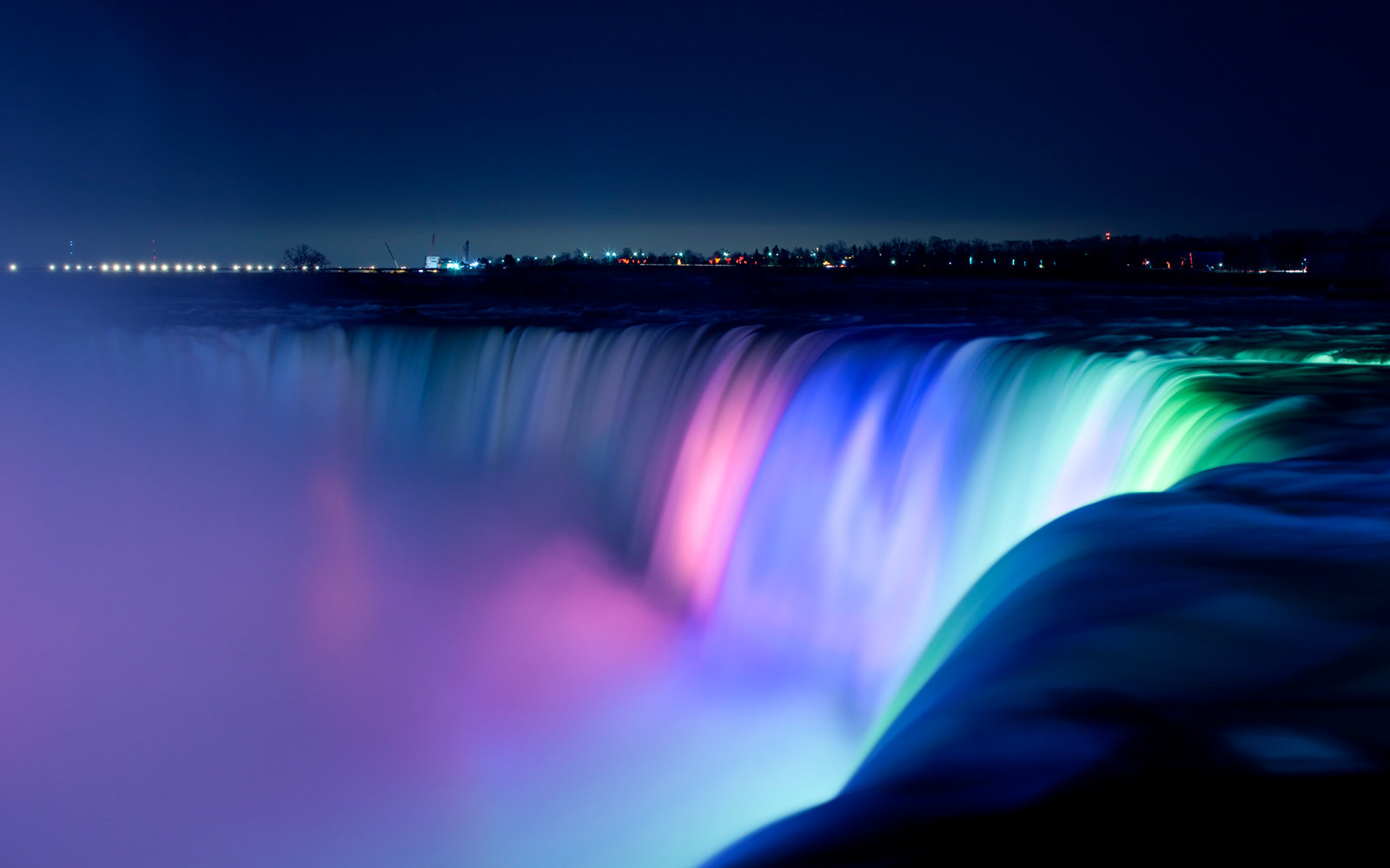 Neon Fall Wallpapers Niagara Falls Is A Technicolor Dream After 4 Million