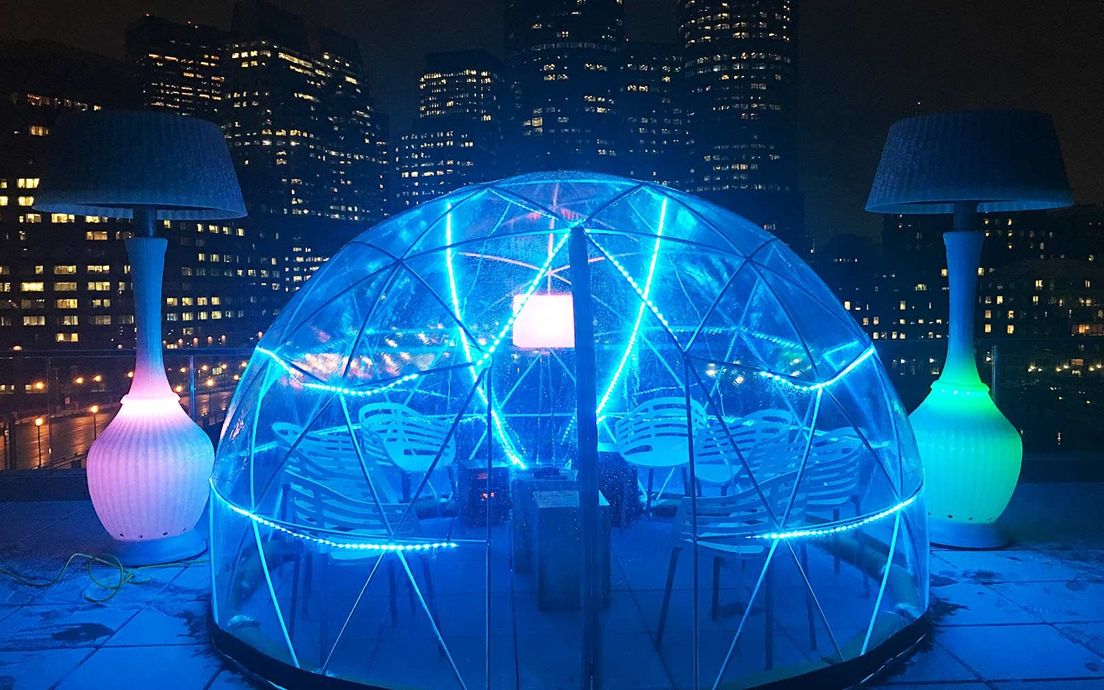 Stay Cozy Boston' Rooftop 'igloo' Bar Travel
