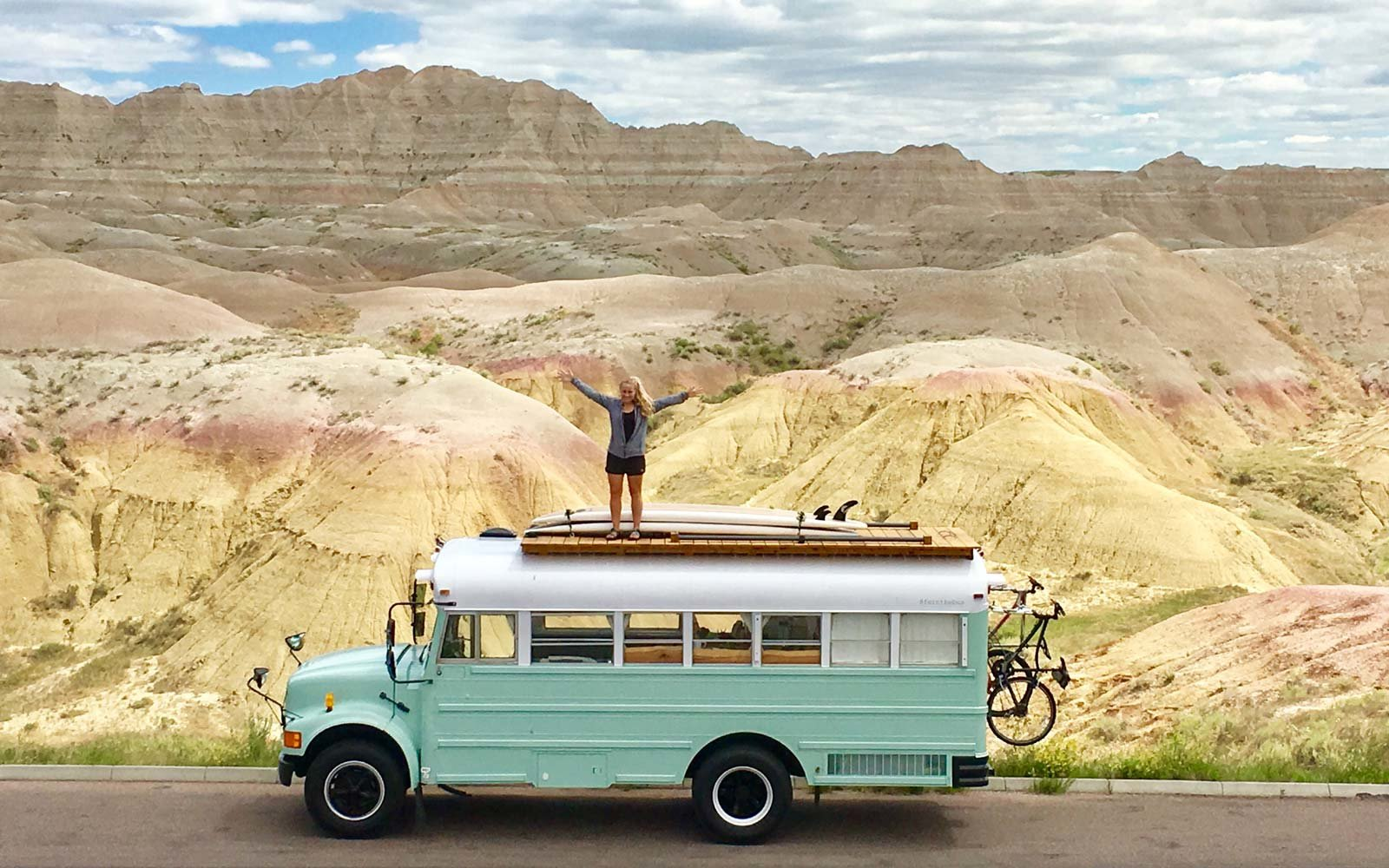 Image result for school bus road trip