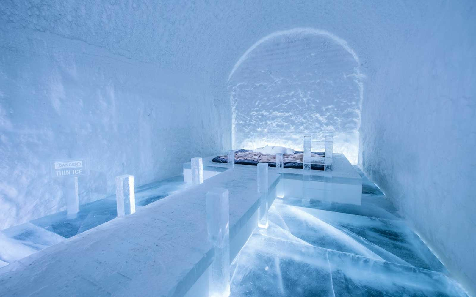 Forget Tropical Getaways. Ice Hotel Place