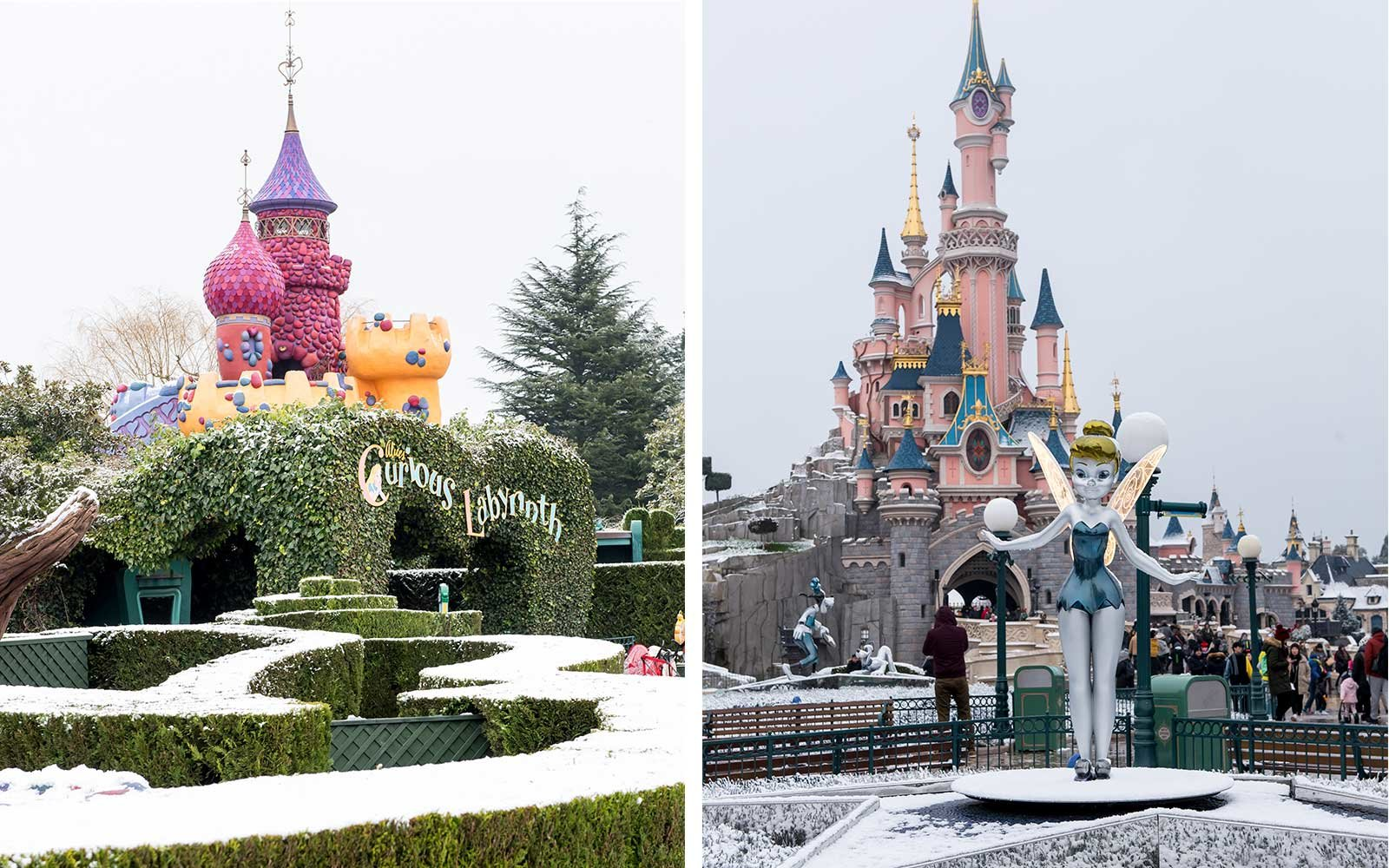 Disneyland Paris Covered In Snow And