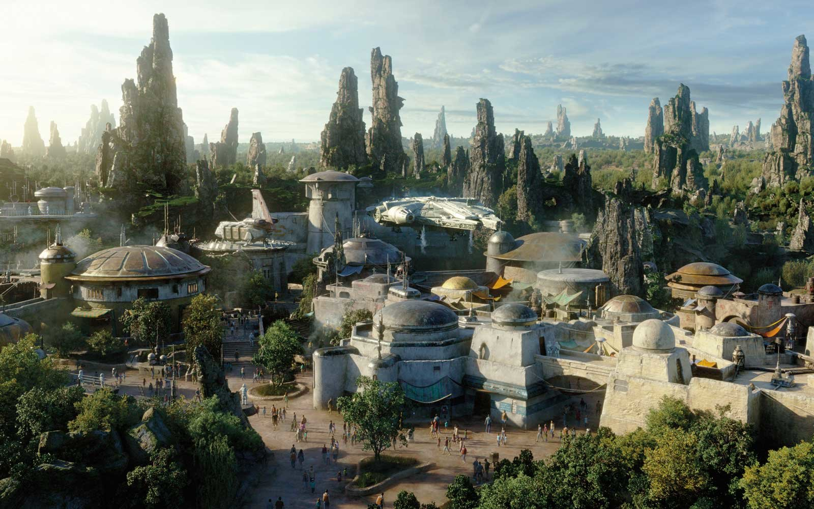 People Star Wars Land And