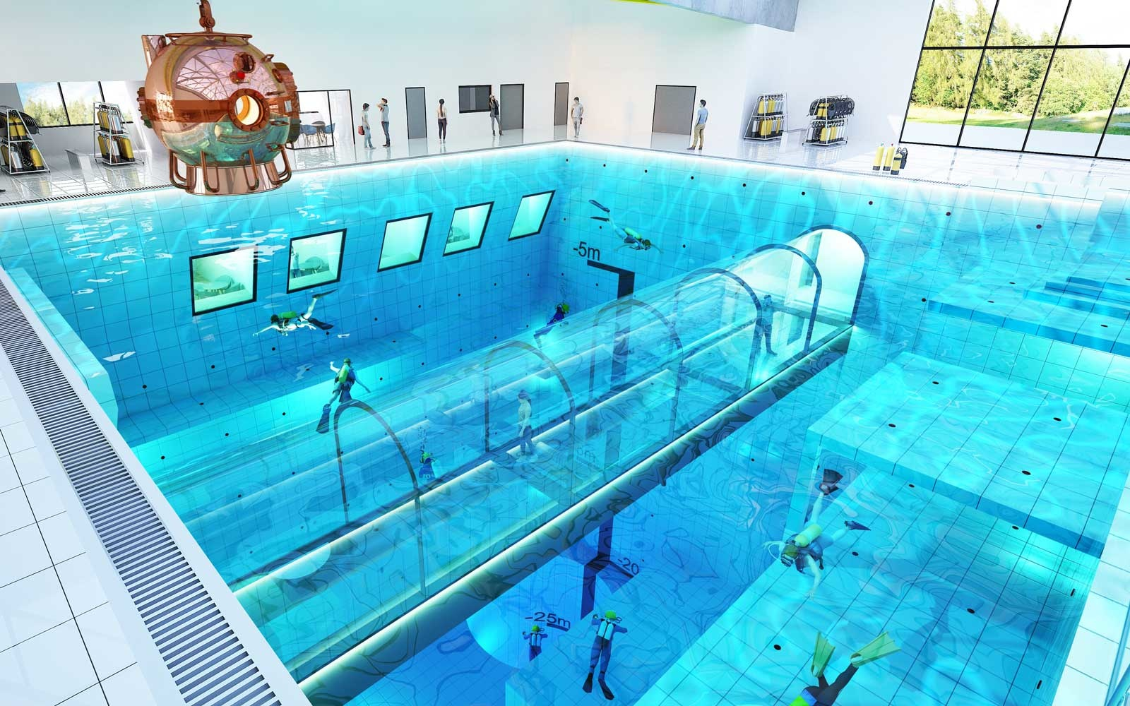 World Deepest Pool Hotel Rooms With