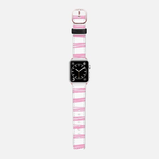 Pink doodle stripes Apple Watch Band (42mm) by Dorina