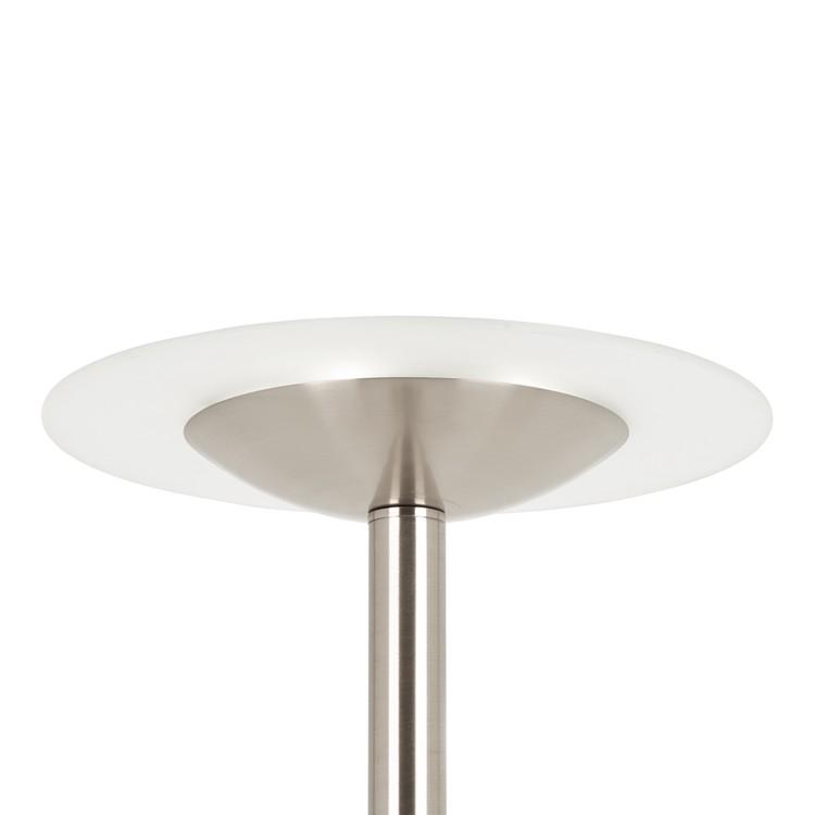Vloerlamp  led met dimmer met leeslamp metaal  home24nl