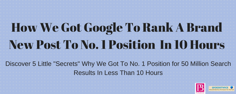 local SEO | how a new post got to 1st page of google in 10 hours