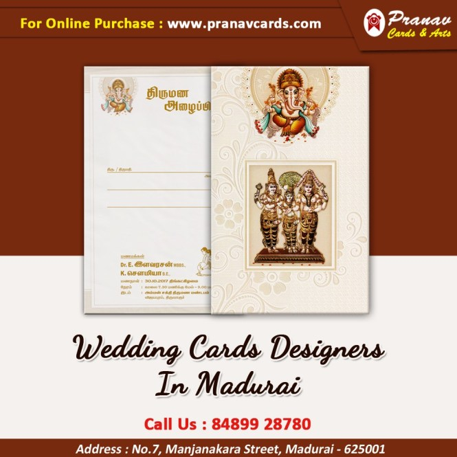 Order Latest Wedding Invitation Cards Pranav Printers In Madurai