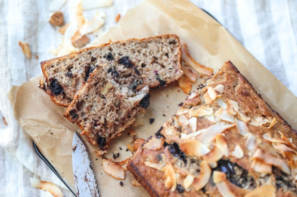 Chocolate, Banana, Coconut Bread by FIT & NU