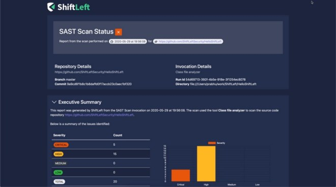 Scan HTML reports