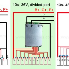 Bms Wiring Diagram Ebike Daisy Powerline Parts What Is Electric Bike Lithium Battery Elecycles Medium There Are Two Types Of The E One Divided Port That Power Negative And Charger Other Type Same