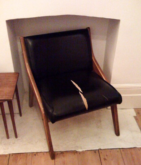 Overground moquette reupholstery  Peter Collins studio