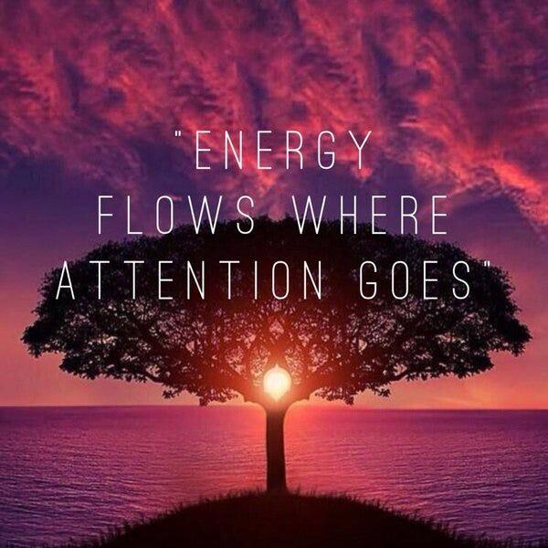 ENERGY FLOWS WERE ATTENTION GOES  Michelle Monet  Medium