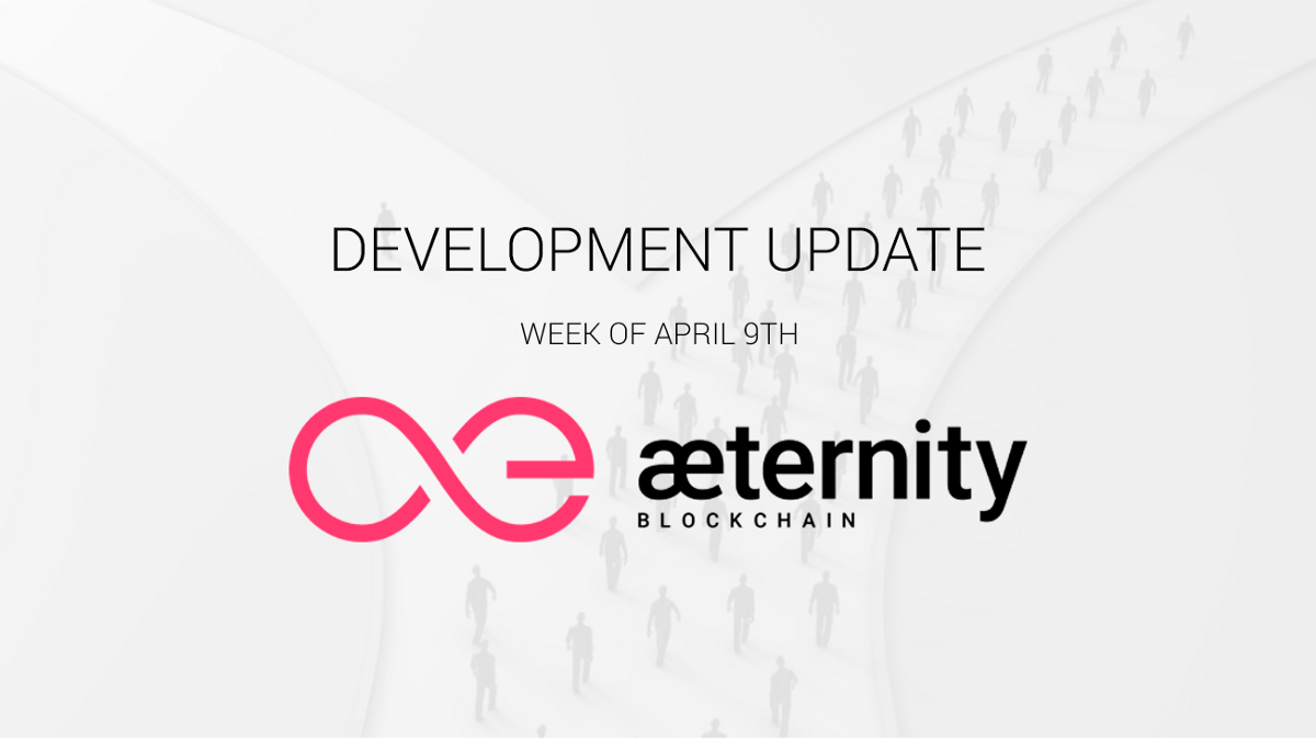 State of Development: Week of April 9th, 2018